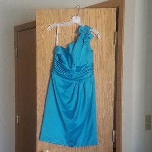 Blue Bridesmaid Dress, Short